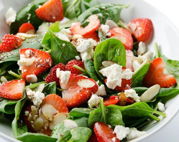 Salade épinards et fraises display image