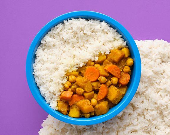 Chickpea Korma over Basmati Rice display image